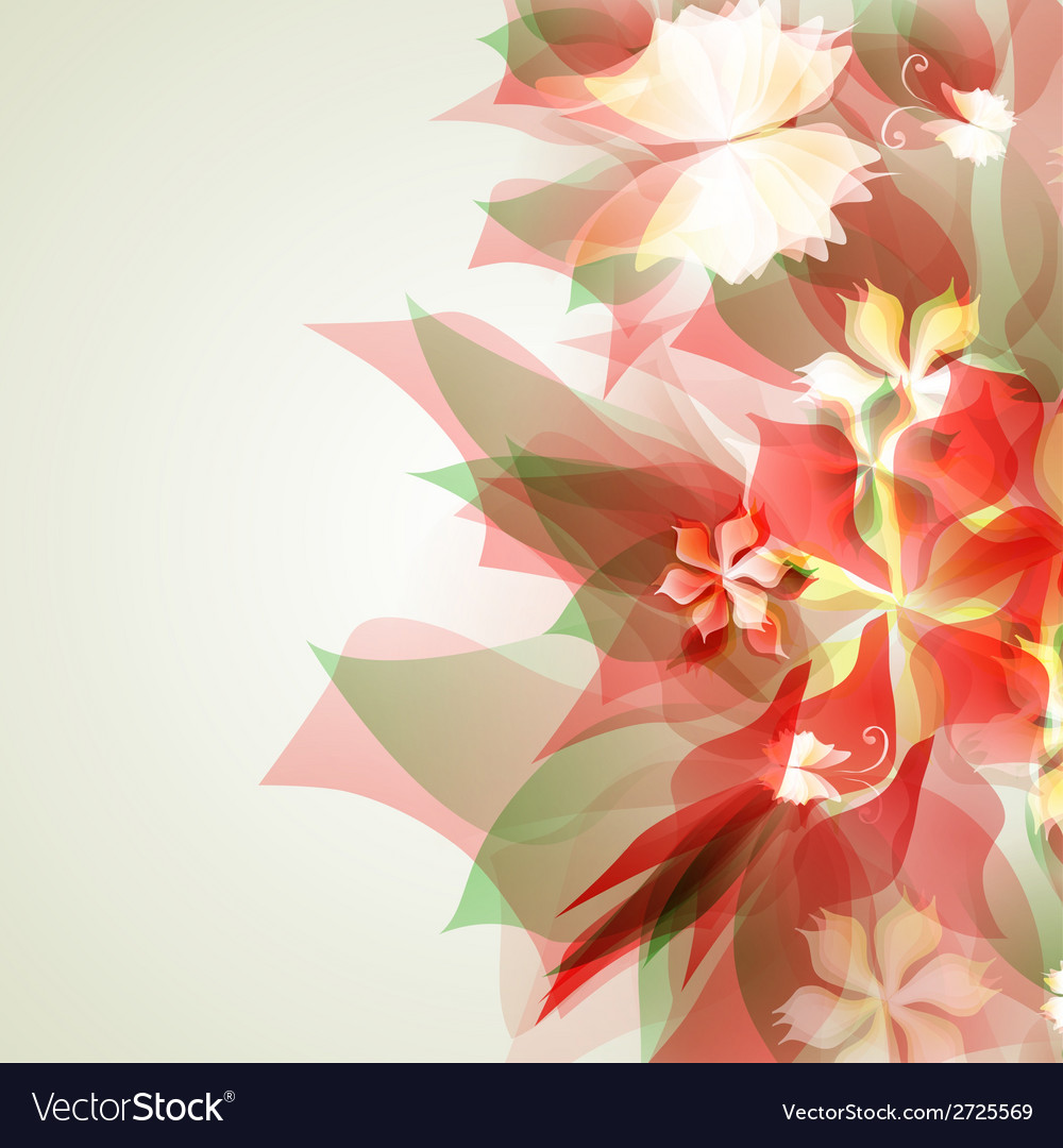Abstract artistic background with red floral vector | Price: 1 Credit (USD $1)