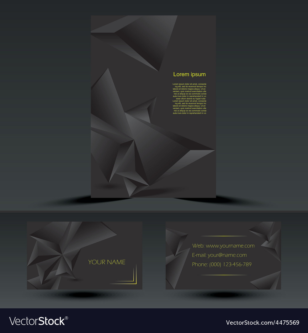 Abstract black corporate brochure template vector | Price: 1 Credit (USD $1)