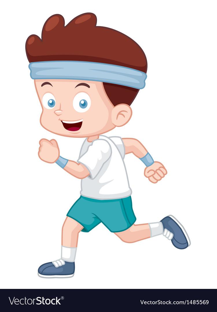 Boy jogging vector | Price: 1 Credit (USD $1)