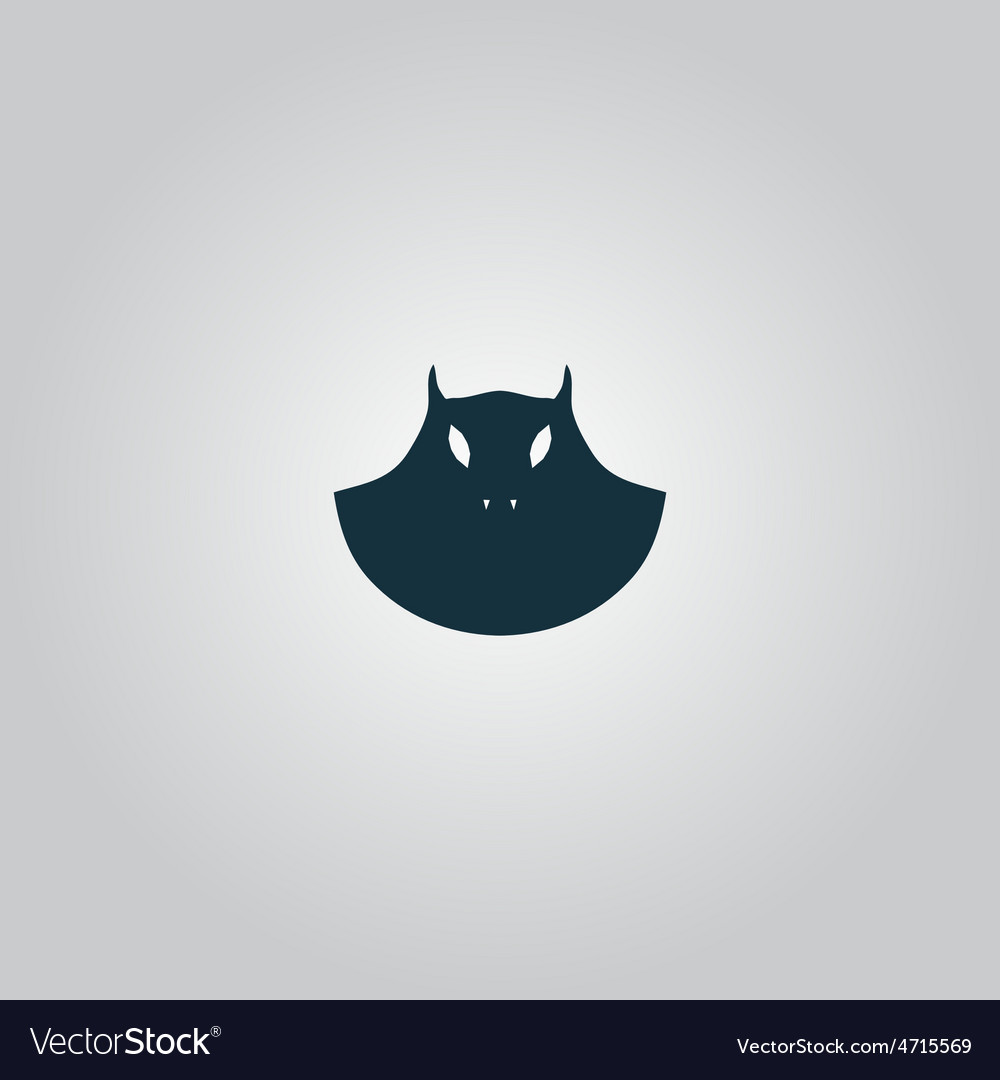 Executioner evil face mask icon vector | Price: 1 Credit (USD $1)