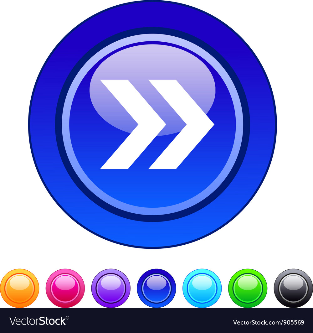 Forward arrow circle button vector | Price: 1 Credit (USD $1)