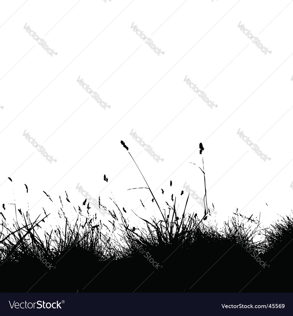 Grass silhouette black vector | Price: 1 Credit (USD $1)