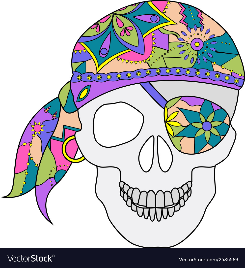 Painted skull vector | Price: 1 Credit (USD $1)