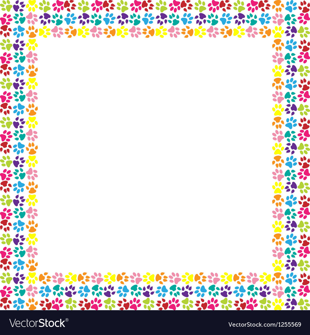 Paw print frame vector | Price: 1 Credit (USD $1)