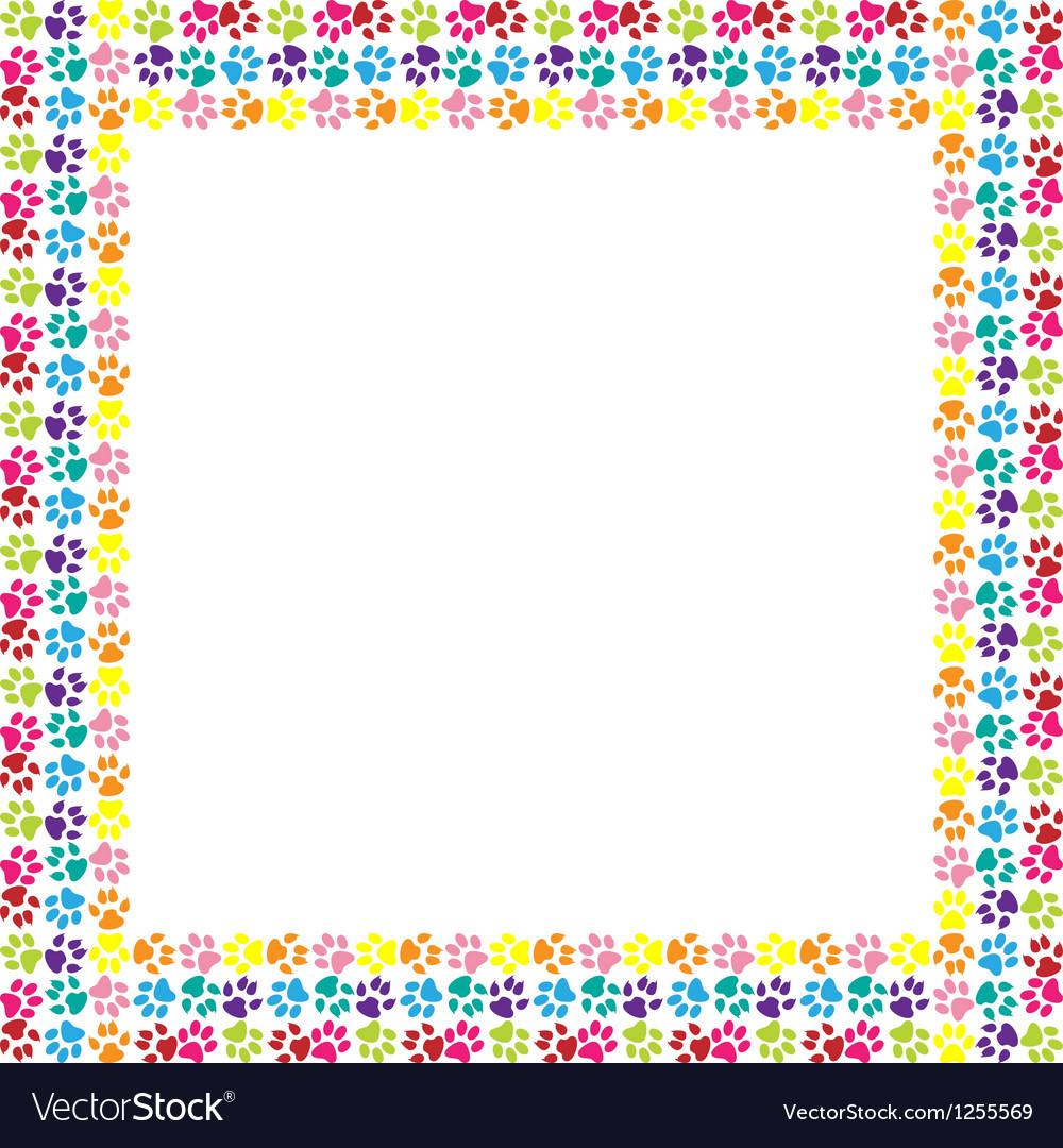 Paw print frame vector | Price: 1 Credit (USD $1)