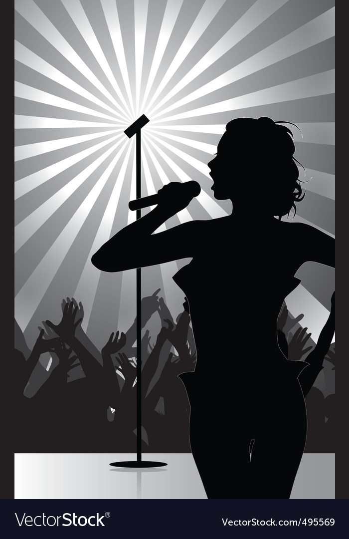 Pop singer vector | Price: 1 Credit (USD $1)