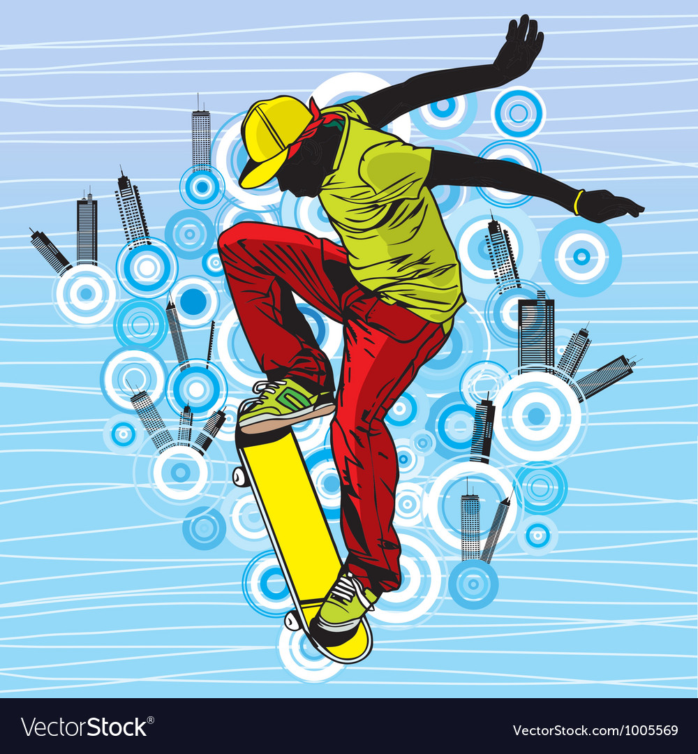 Skateboarding vector | Price: 1 Credit (USD $1)