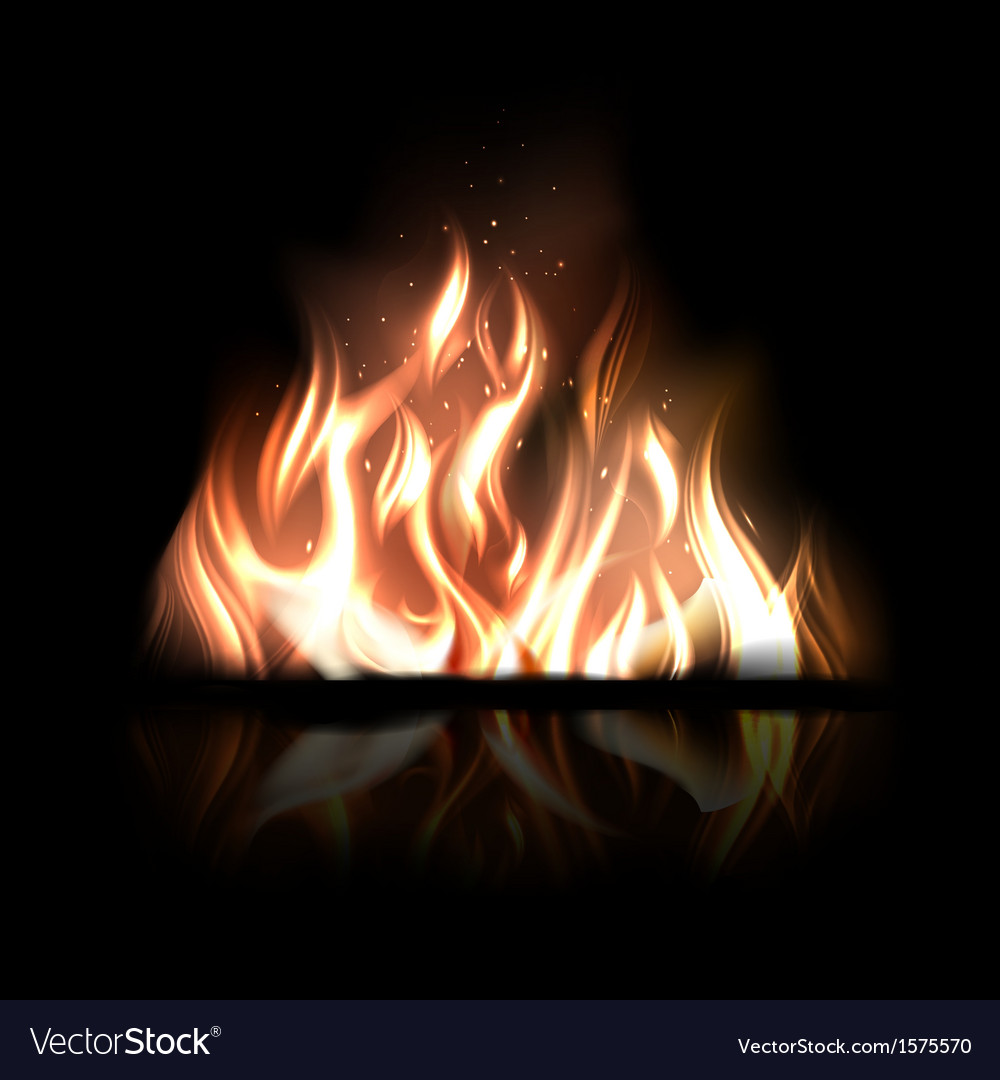 Burning fire vector | Price: 1 Credit (USD $1)
