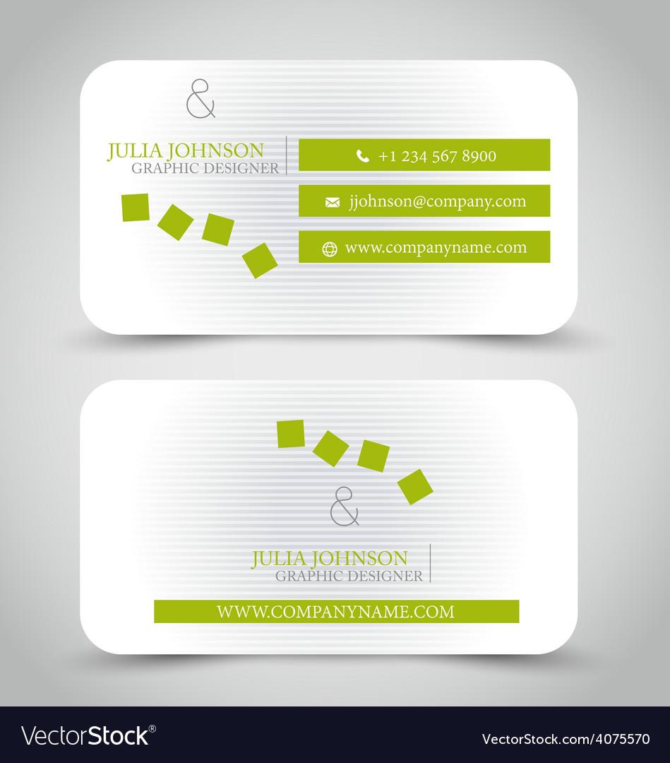 Business card design set template vector   Price: 1 Credit (USD $1)