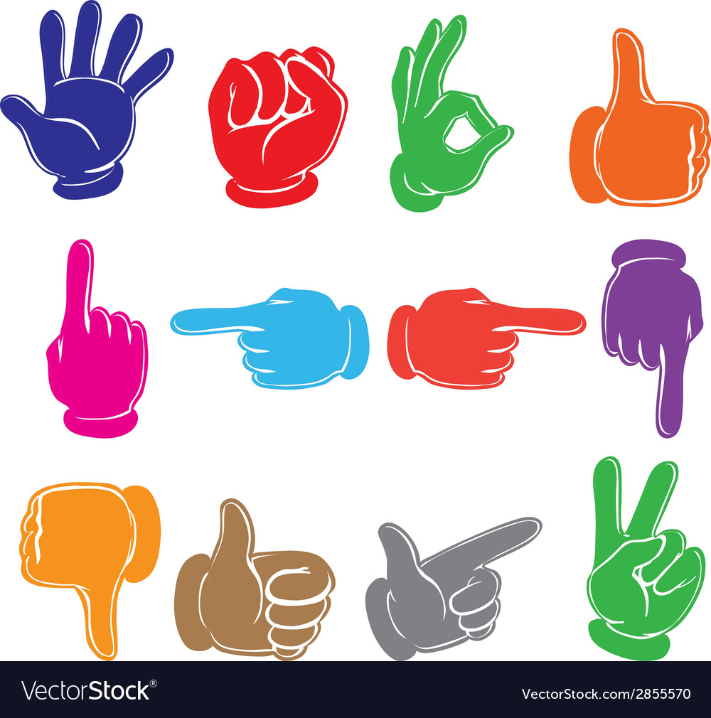 Colourful hands vector | Price: 1 Credit (USD $1)