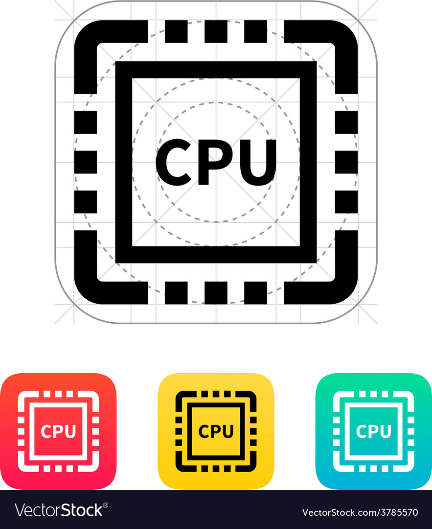 Cpu icon vector | Price: 1 Credit (USD $1)