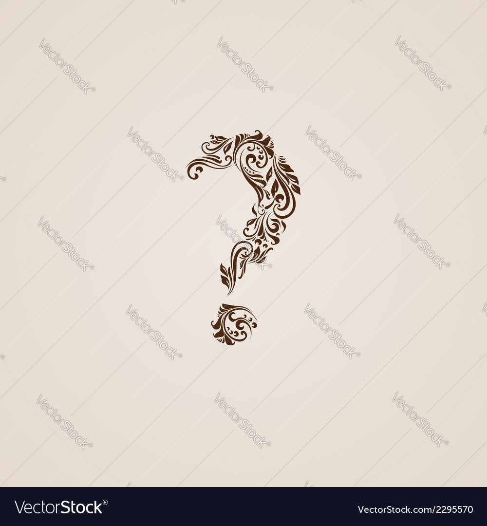 Decorated question mark vector | Price: 1 Credit (USD $1)