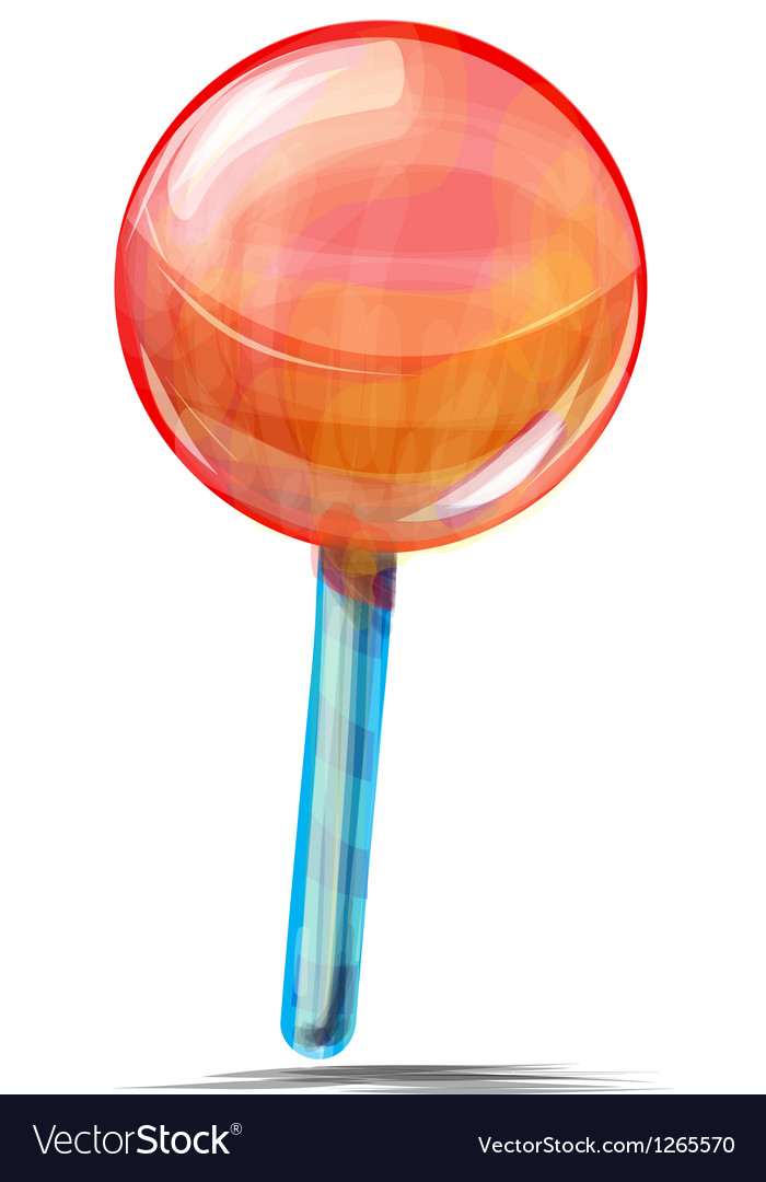 Delicious lolly pop isolated on white vector | Price: 1 Credit (USD $1)