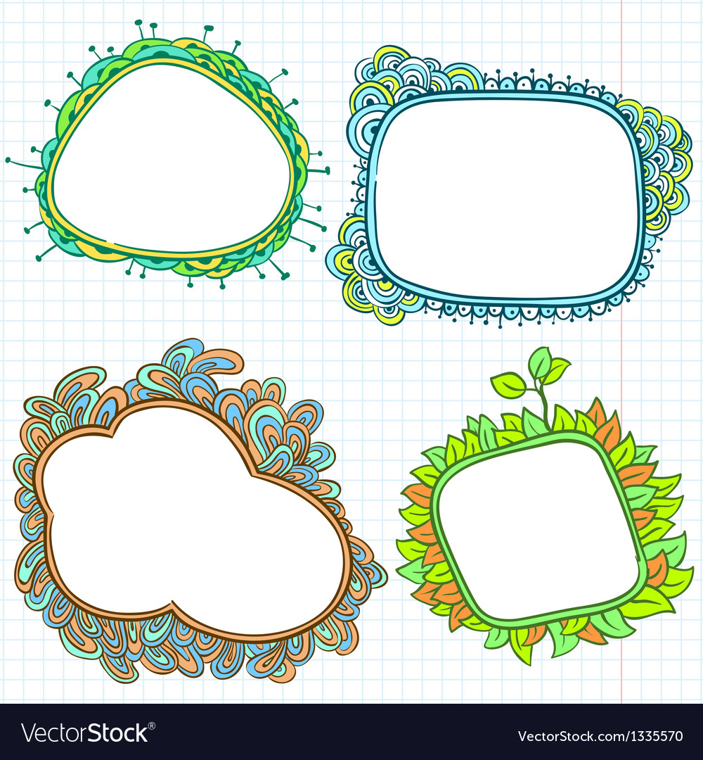 Doodle frames vector | Price: 1 Credit (USD $1)