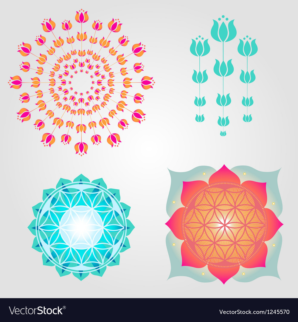 Floral icons designs vector | Price: 1 Credit (USD $1)
