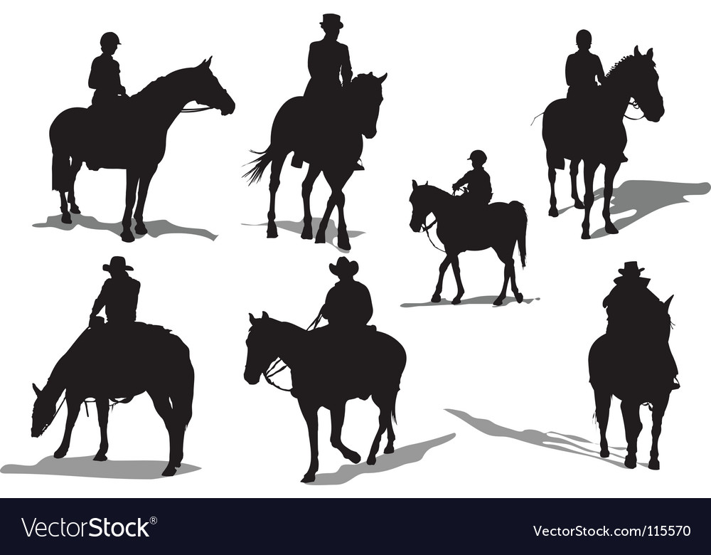 Horse riders vector | Price: 1 Credit (USD $1)