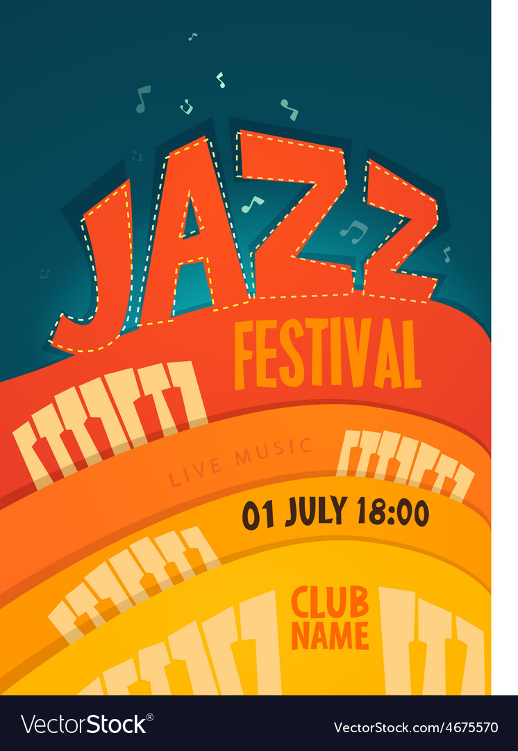 Jazz concert music background vector | Price: 1 Credit (USD $1)