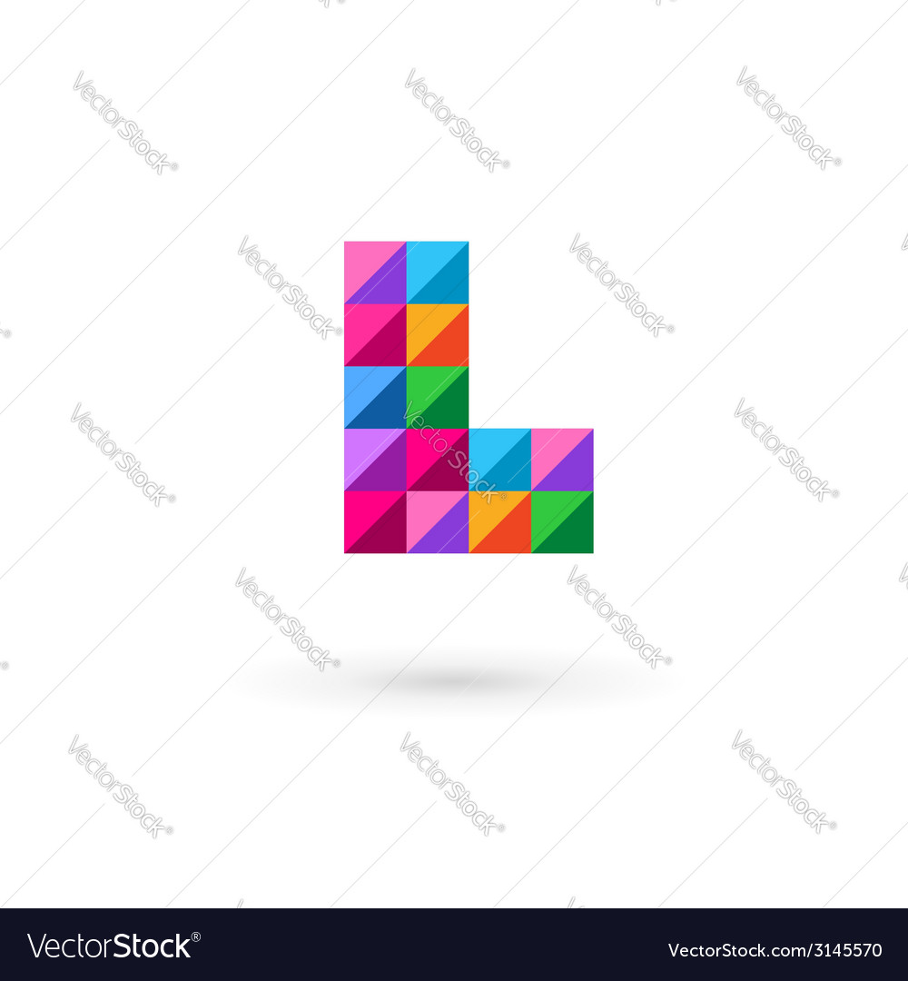 Letter l mosaic logo icon vector | Price: 1 Credit (USD $1)
