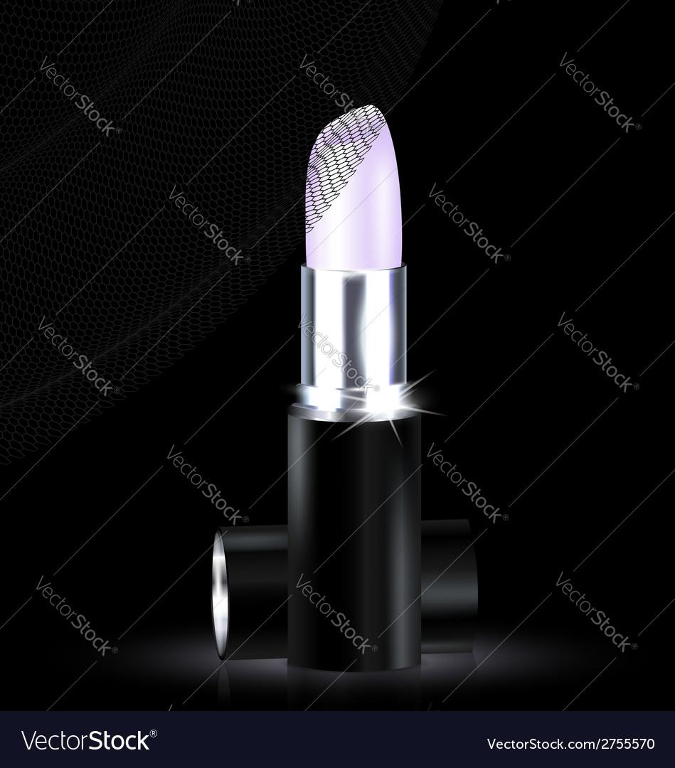 Lipstick in black-white vector | Price: 1 Credit (USD $1)