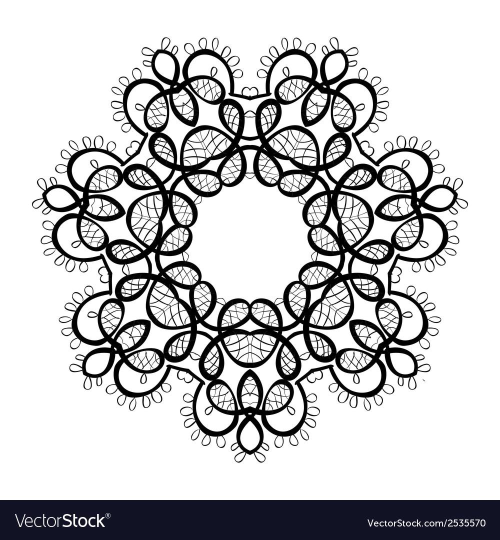 Mandala round ornament pattern vector | Price: 1 Credit (USD $1)
