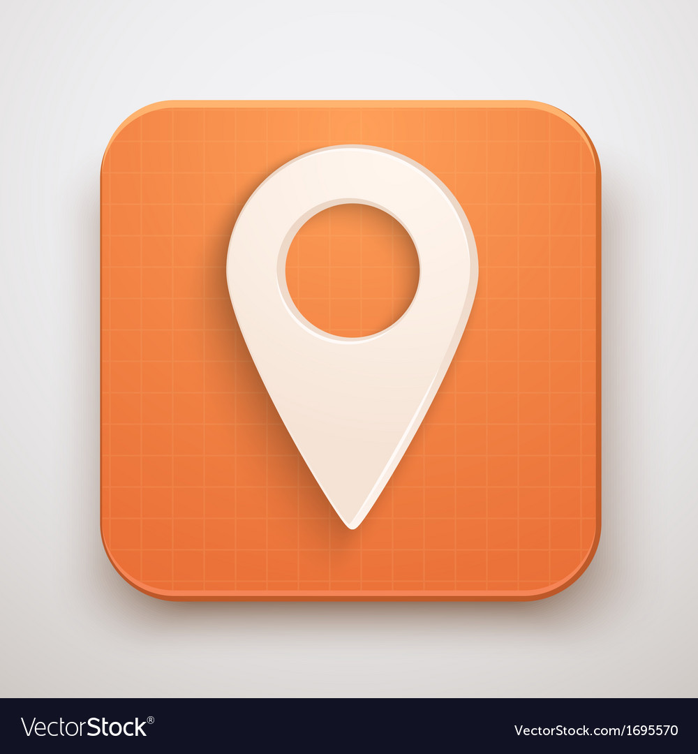Map marker pin icon vector | Price: 1 Credit (USD $1)