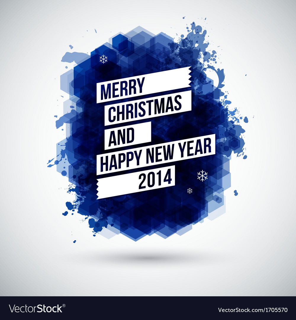 Merry christmas and happy new year typographic vector | Price: 1 Credit (USD $1)