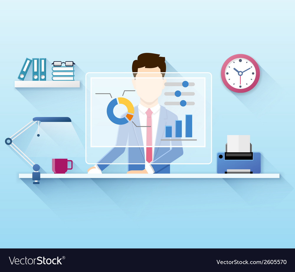 Office worker vector | Price: 1 Credit (USD $1)