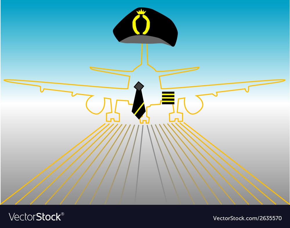 Pilot and runway vector   Price: 1 Credit (USD $1)