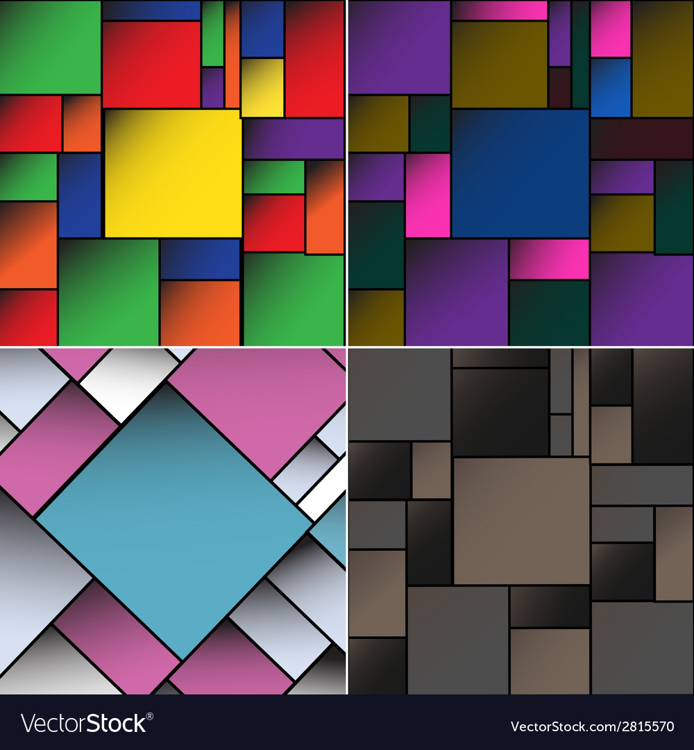 Set colorful square blank batskground with place vector | Price: 1 Credit (USD $1)