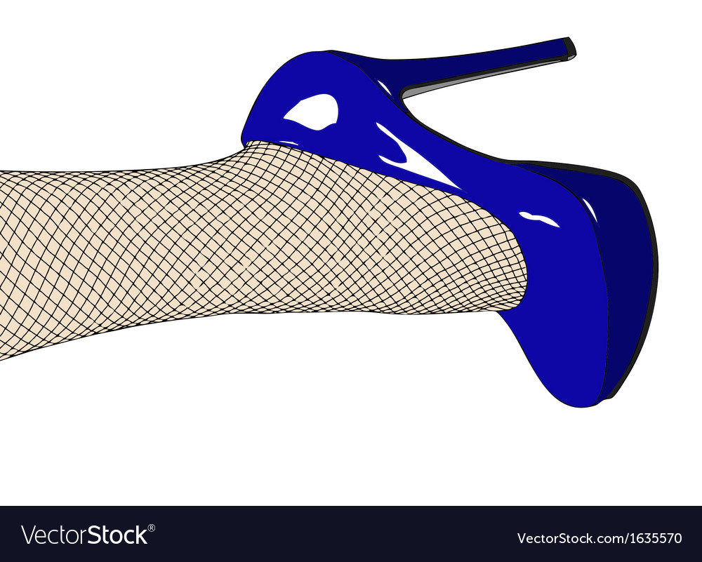 Shoes and fishnet stockings vector | Price: 1 Credit (USD $1)