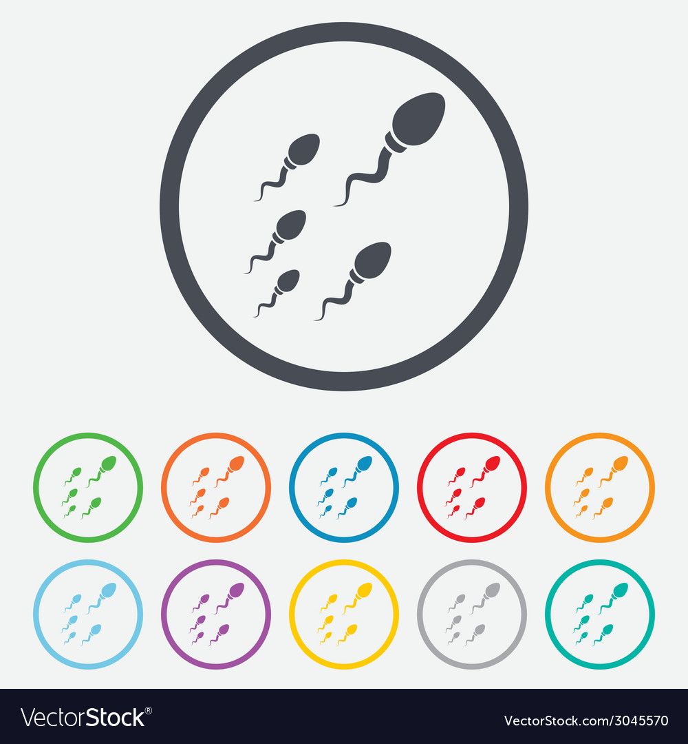 Sperm sign icon fertilization symbol vector | Price: 1 Credit (USD $1)