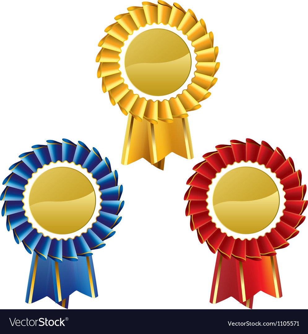 Award rosette medal set vector | Price: 1 Credit (USD $1)