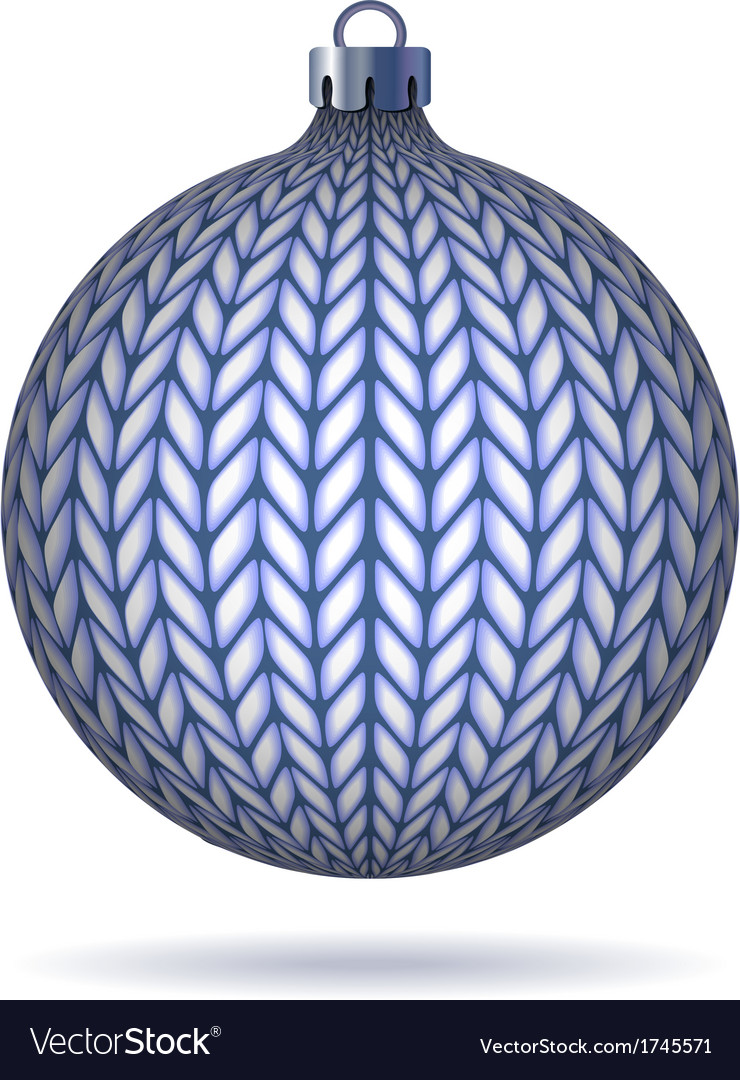 Blue knitted christmas ball vector | Price: 1 Credit (USD $1)