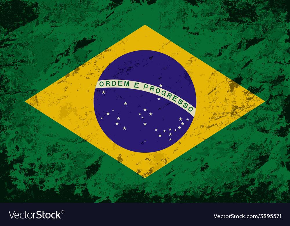 Brazilian flag grunge background vector | Price: 1 Credit (USD $1)