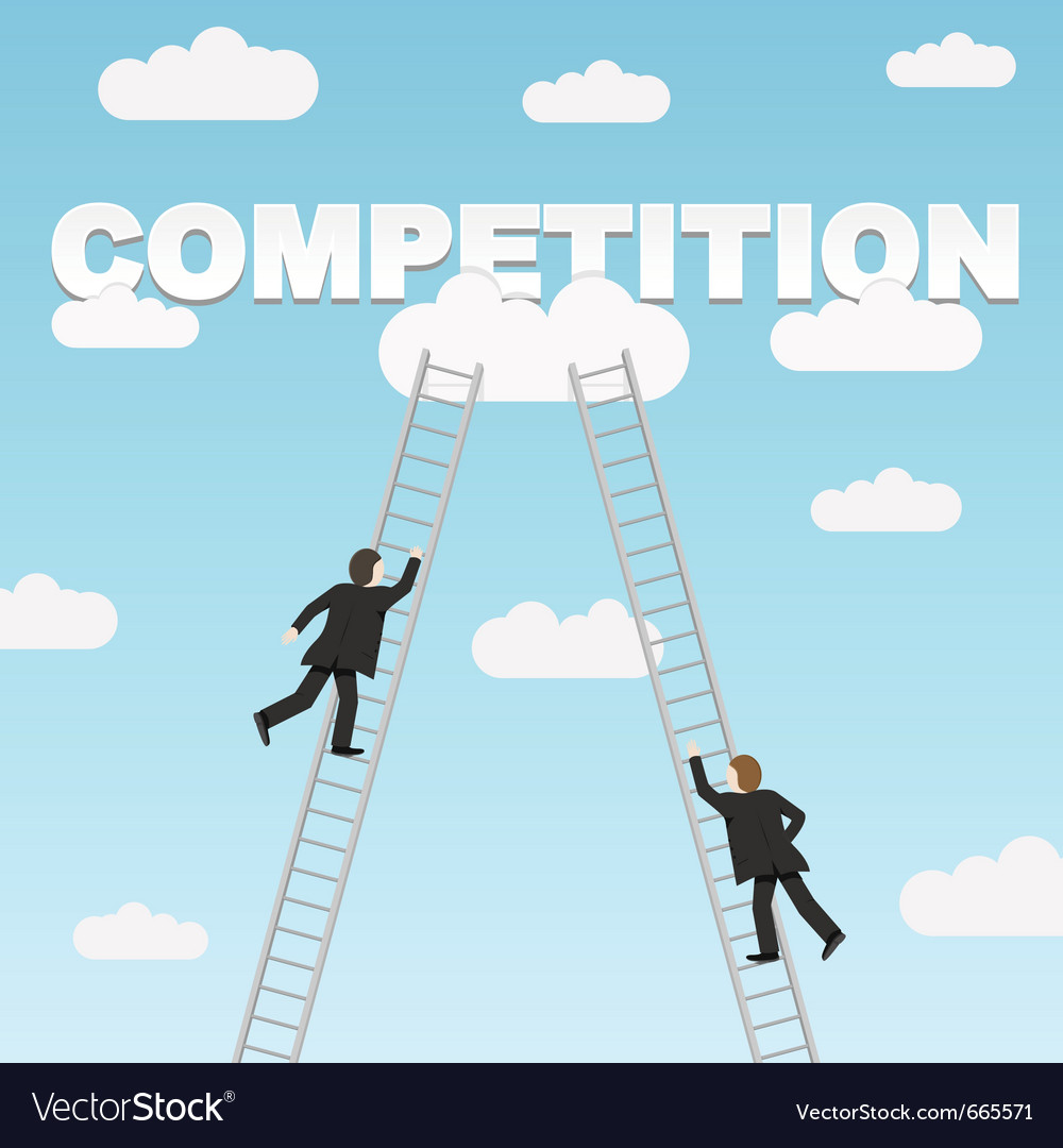 Business competition between two businessmen vector | Price: 1 Credit (USD $1)