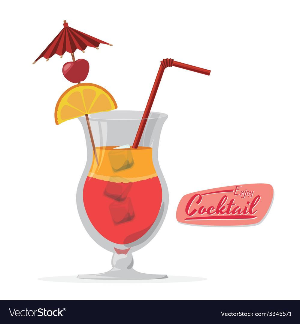 Cocktail design vector | Price: 1 Credit (USD $1)