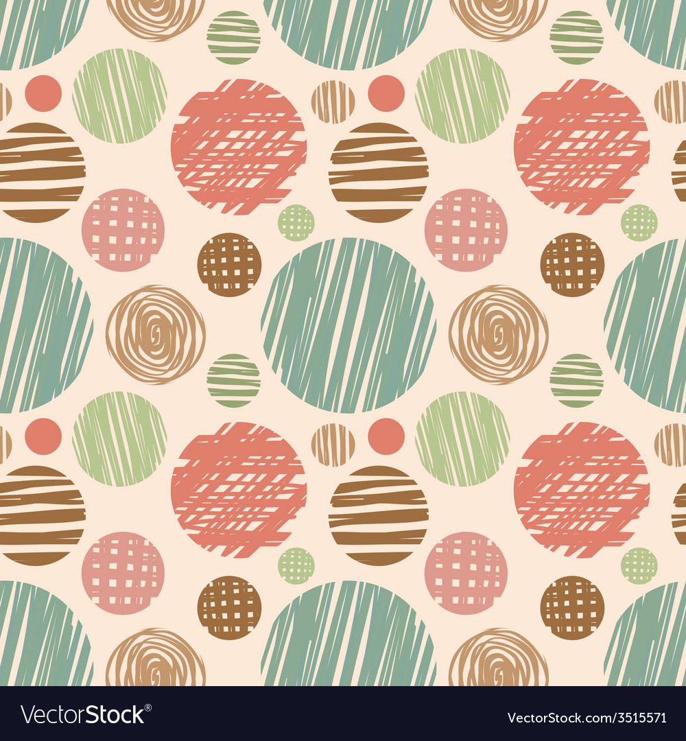Fabric circles abstract seamless pattern vector | Price: 1 Credit (USD $1)