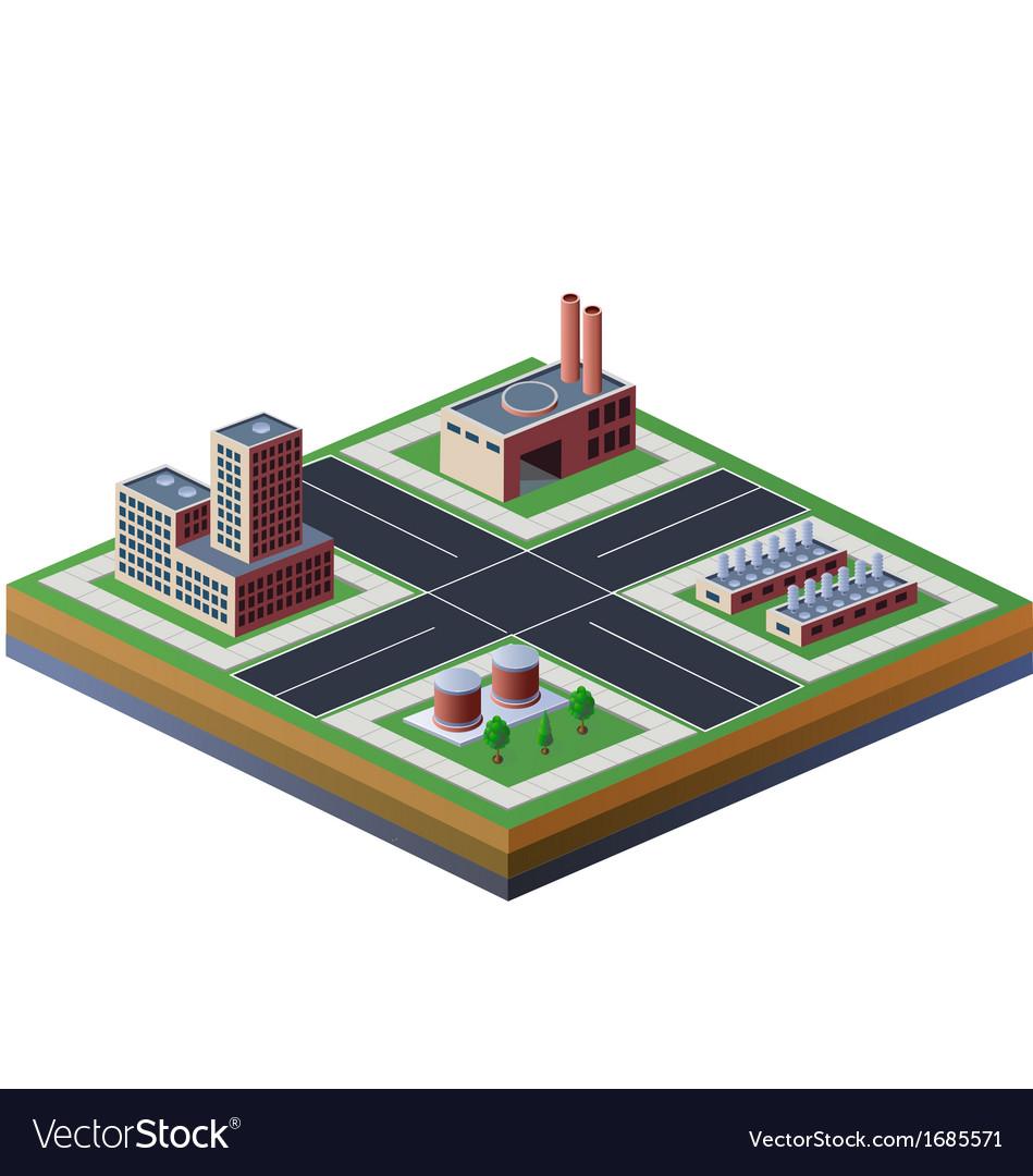 Factories vector | Price: 1 Credit (USD $1)