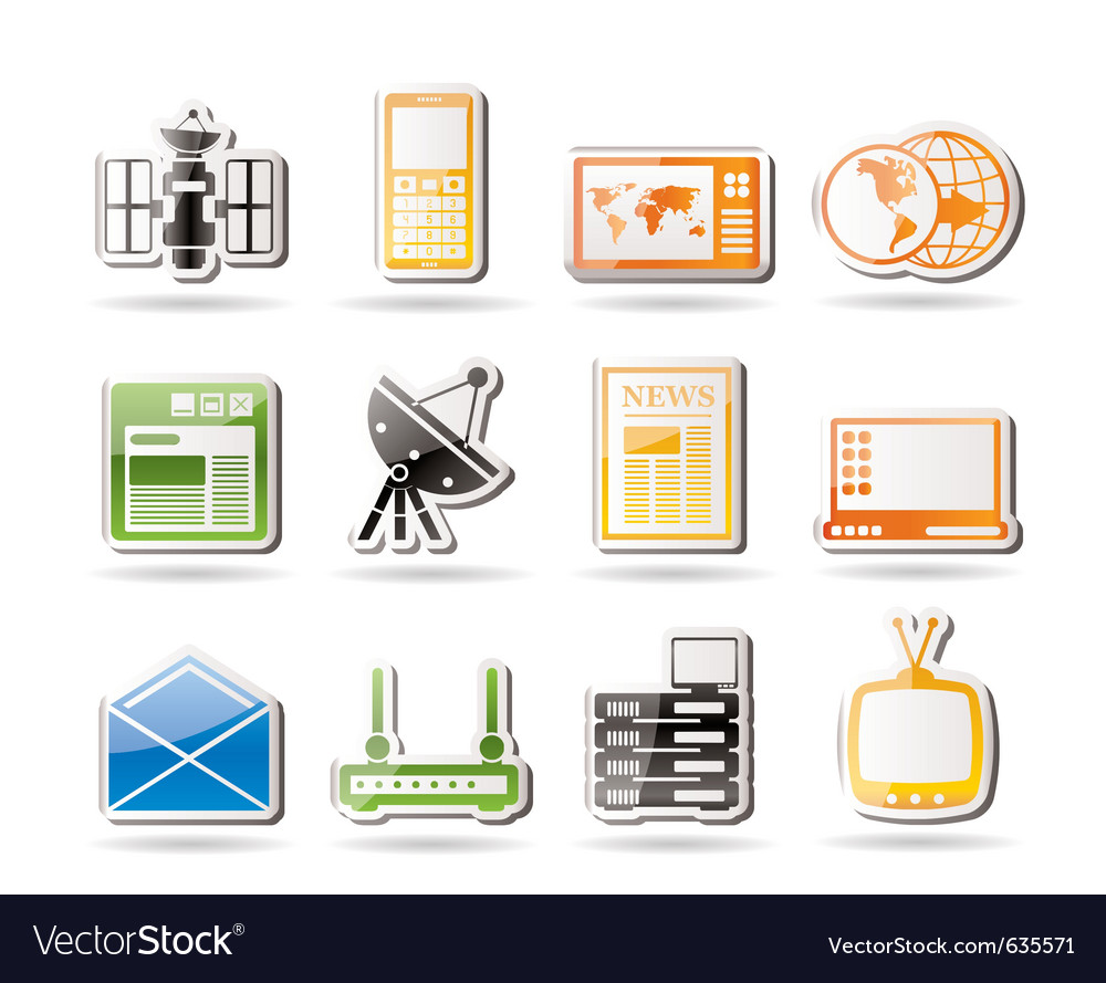 Simple communication and business icons vector | Price: 1 Credit (USD $1)