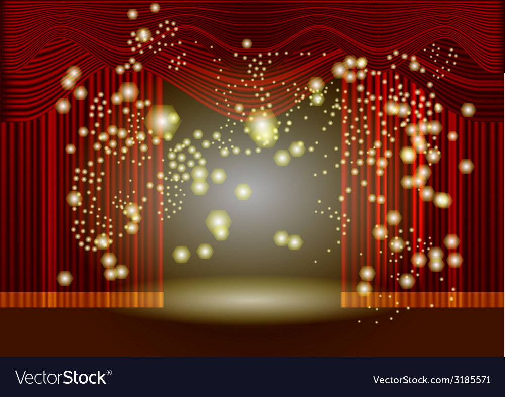 Theatre stage curtain vector | Price: 1 Credit (USD $1)