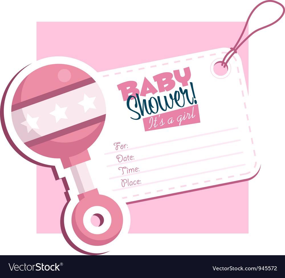 Baby shower invitation vector | Price: 1 Credit (USD $1)
