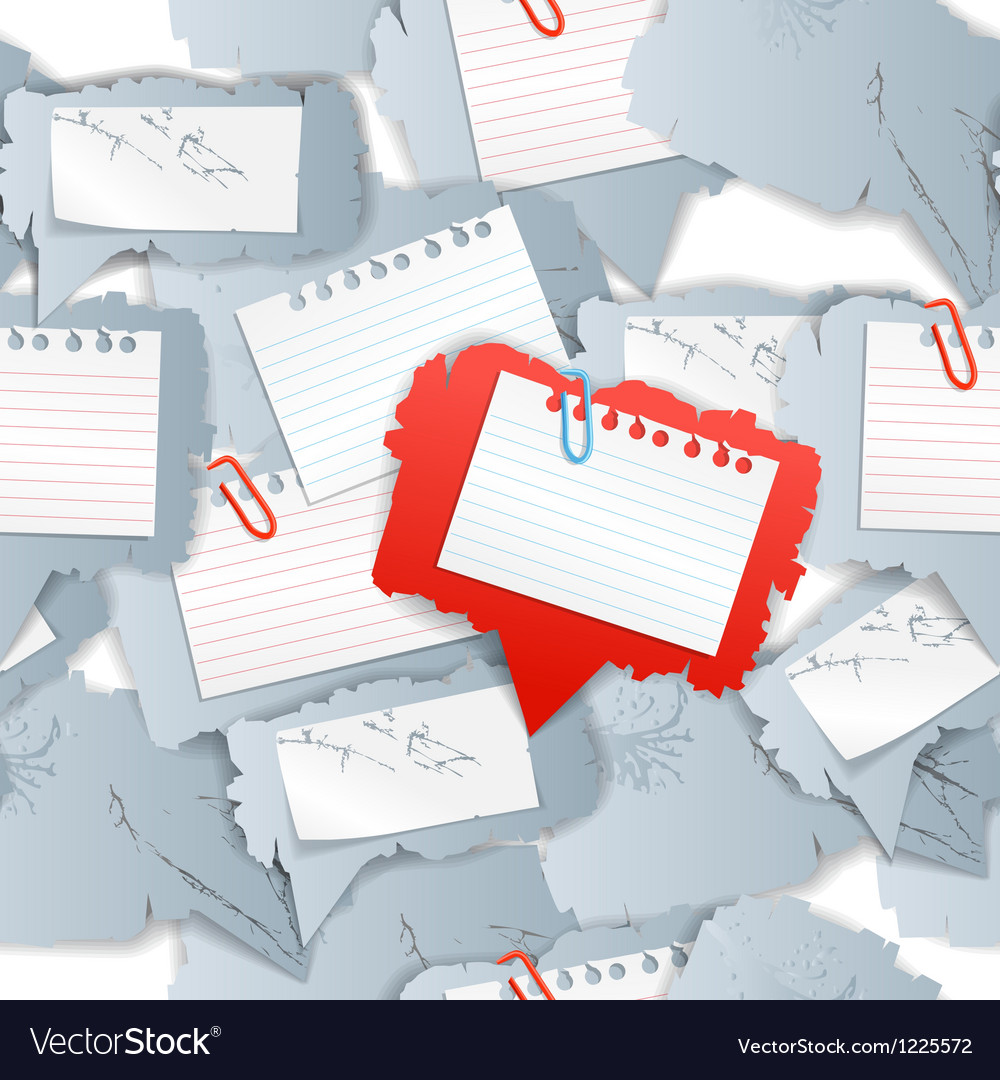 Blank white papers seamless background vector | Price: 1 Credit (USD $1)