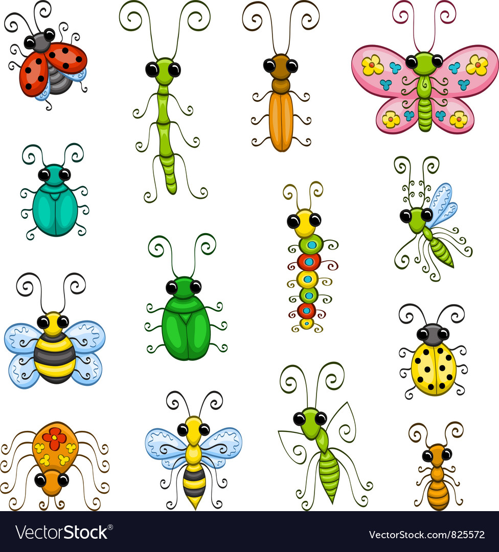 Cartoon insects vector | Price: 1 Credit (USD $1)