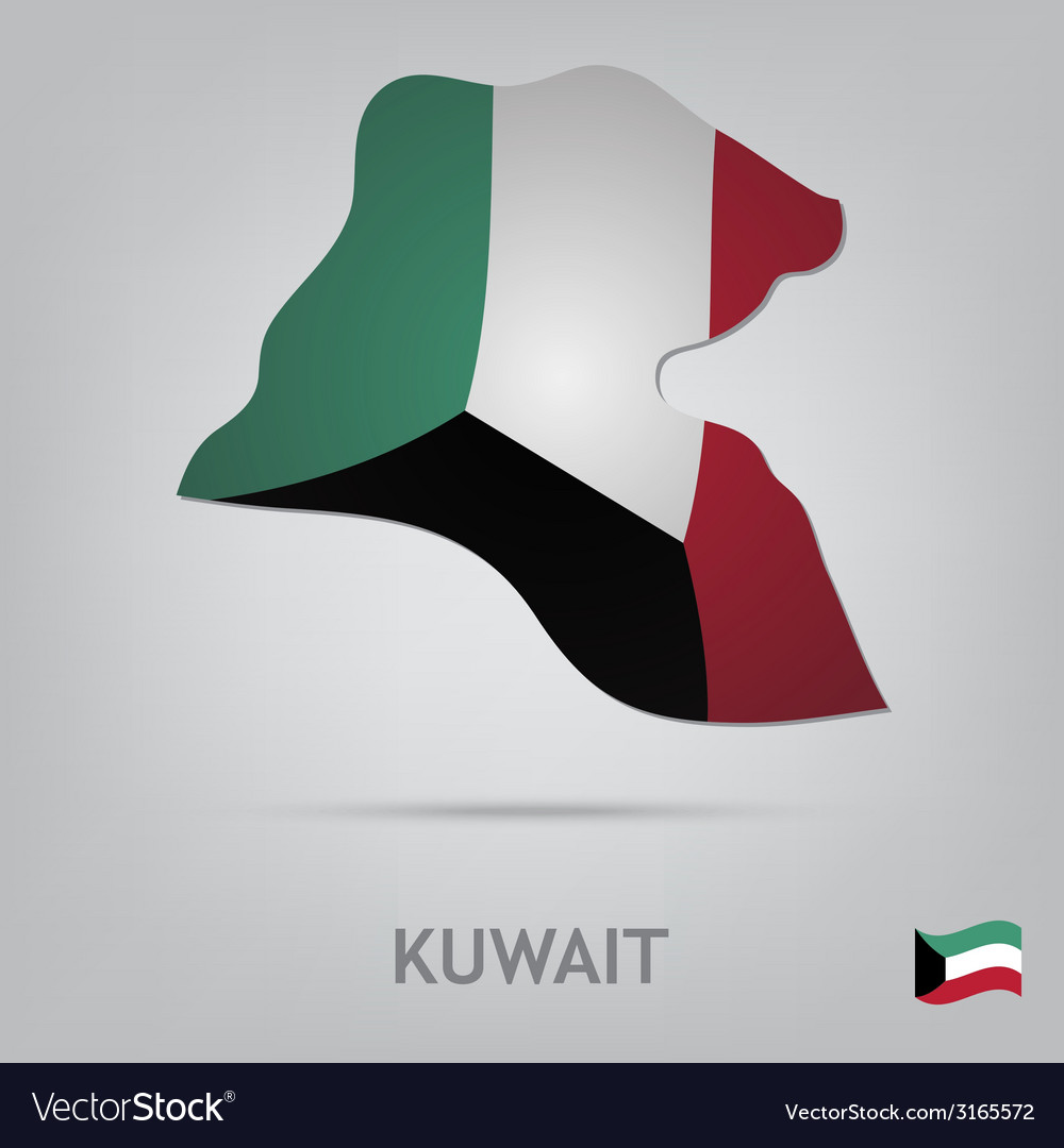 Country kuwait vector | Price: 1 Credit (USD $1)