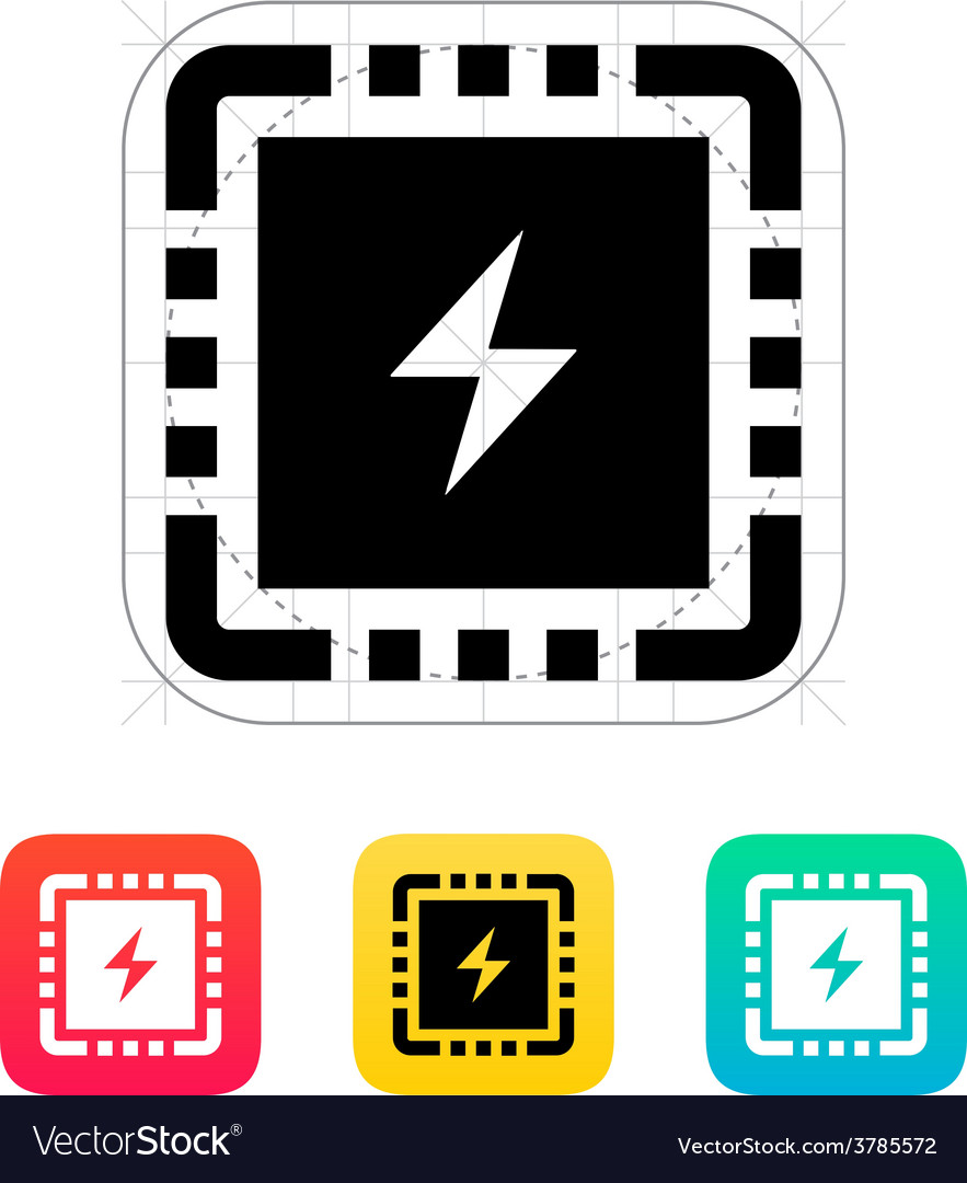 Cpu power icon vector | Price: 1 Credit (USD $1)