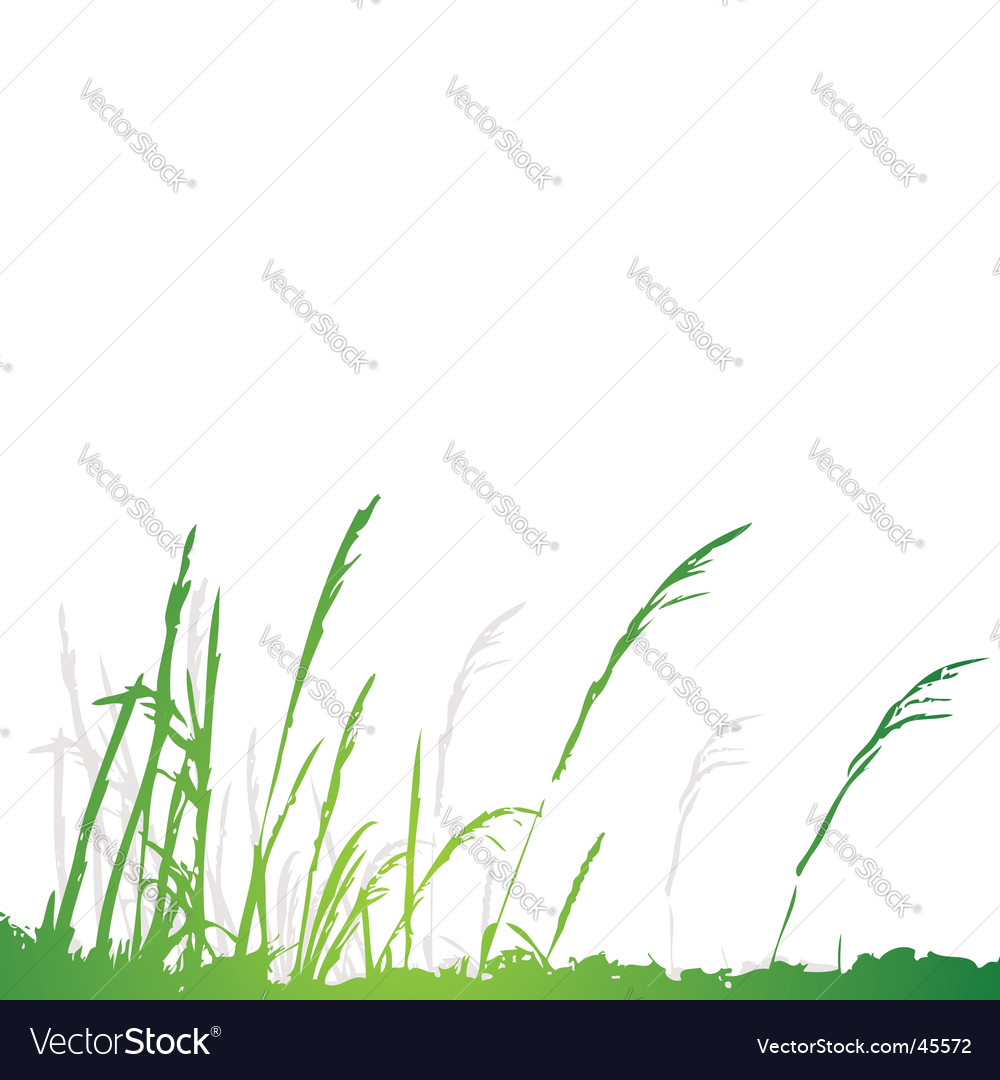 Grass silhouette green summer background vector | Price: 1 Credit (USD $1)