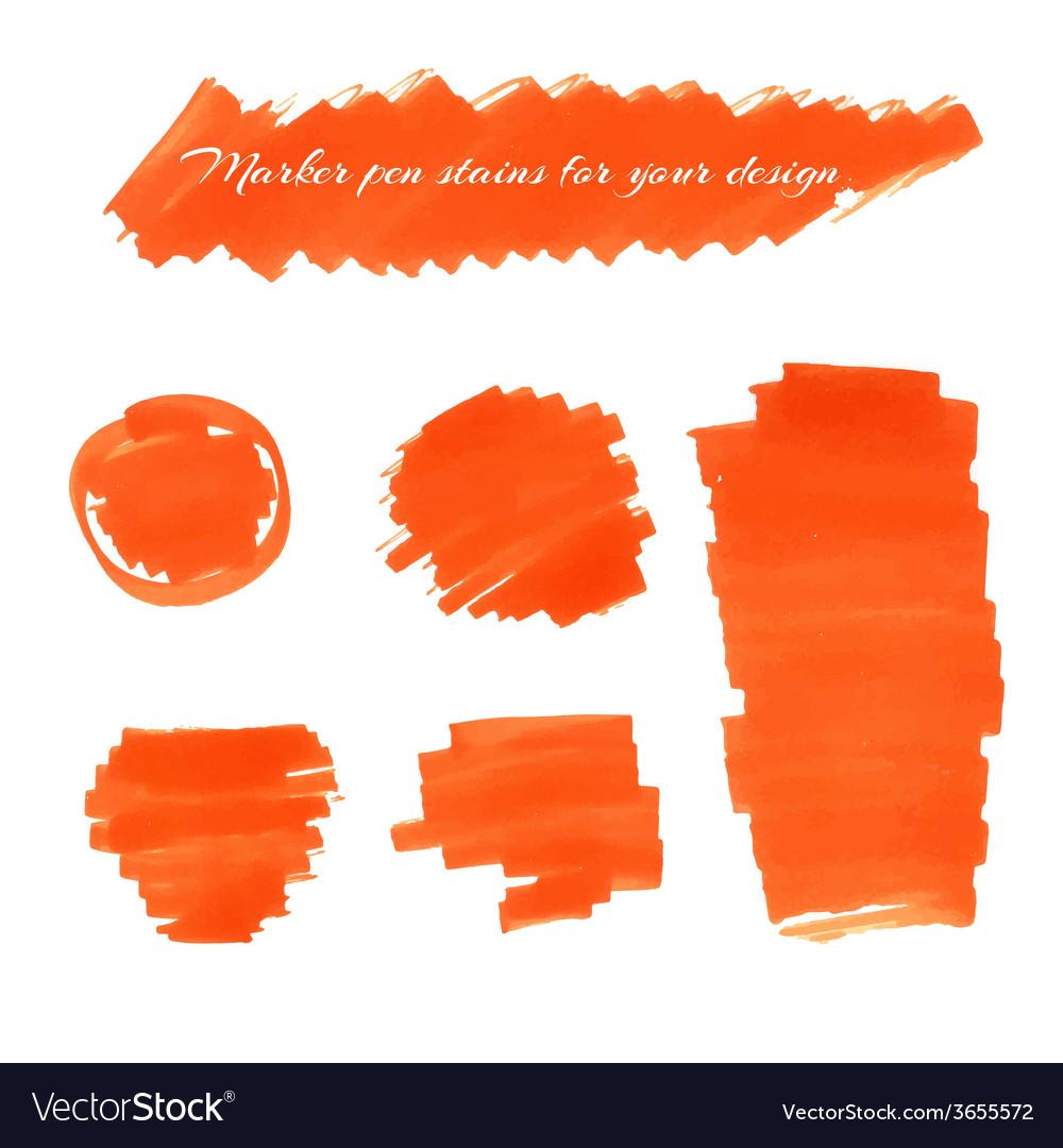 Marker pen spots vector | Price: 1 Credit (USD $1)