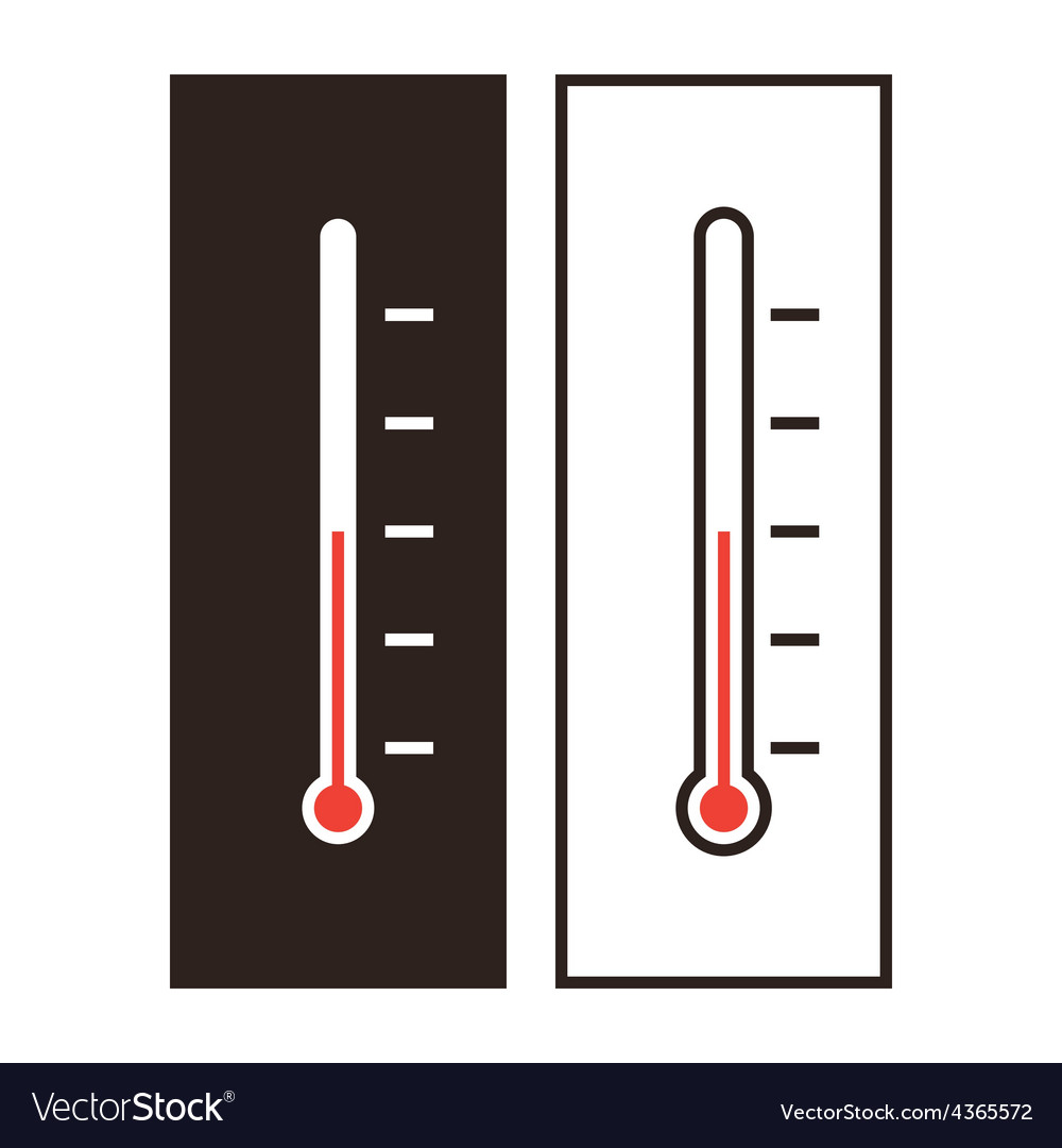 Thermometer icon set vector | Price: 1 Credit (USD $1)