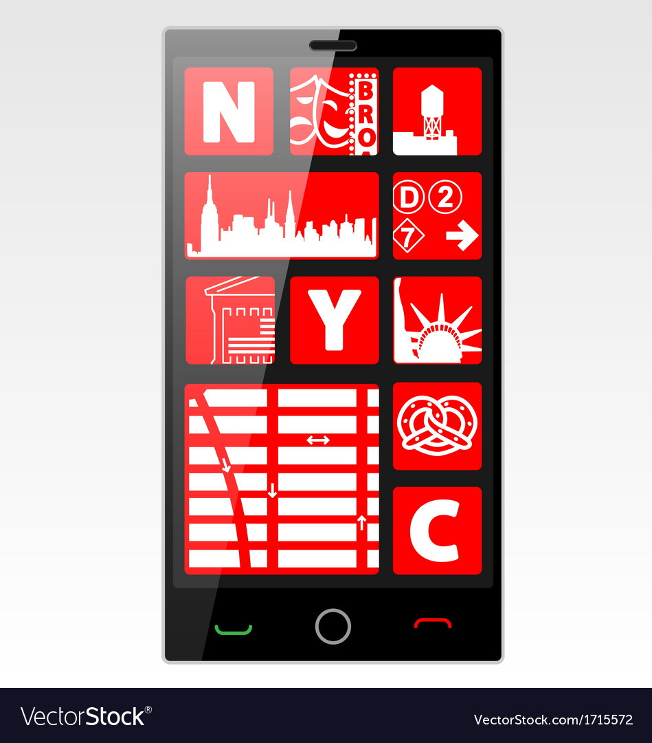 New york cell phone vector | Price: 1 Credit (USD $1)