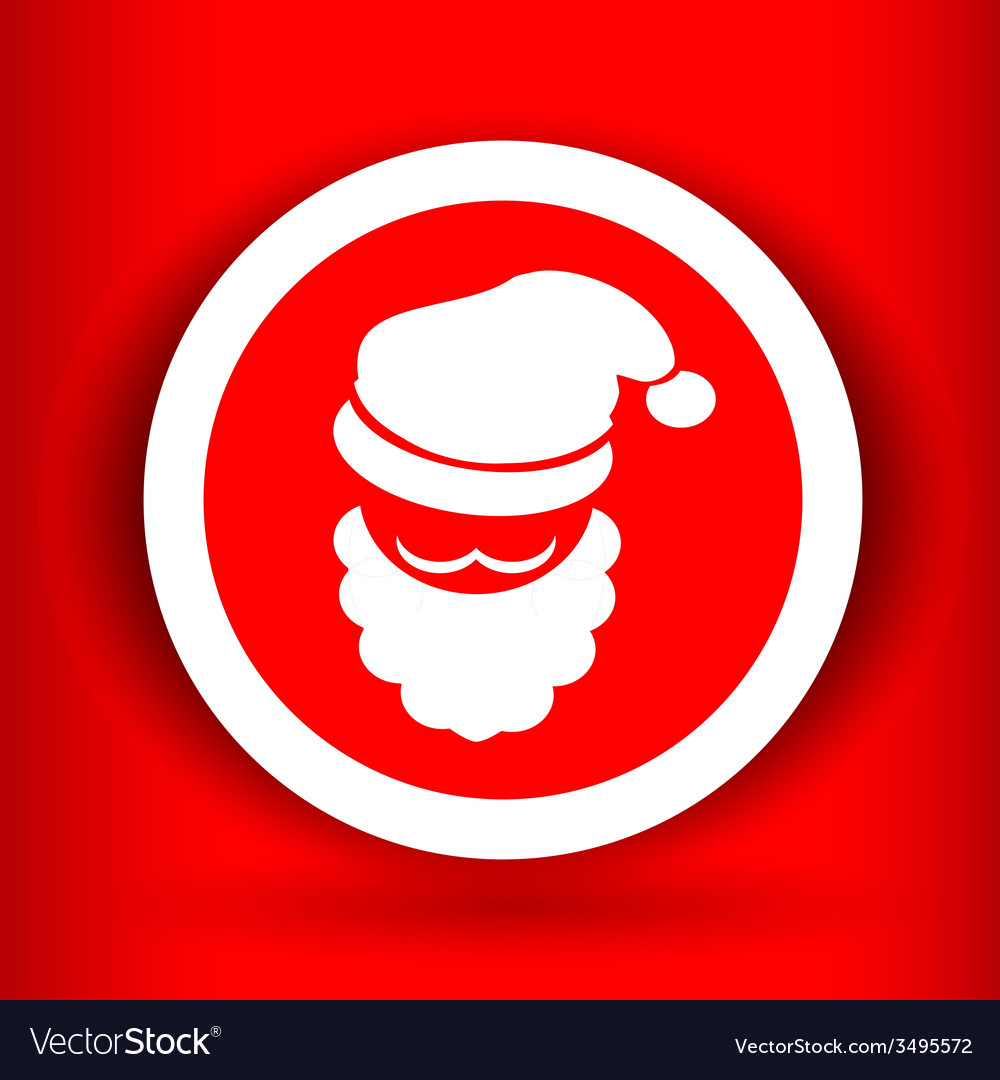 Nice face of santa claus vector | Price: 1 Credit (USD $1)